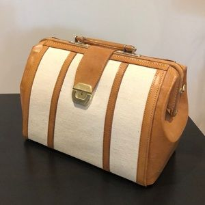 Doctors bag leather and canvas